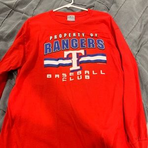 MLB Shirts - Long sleeve Texas rangers shirt